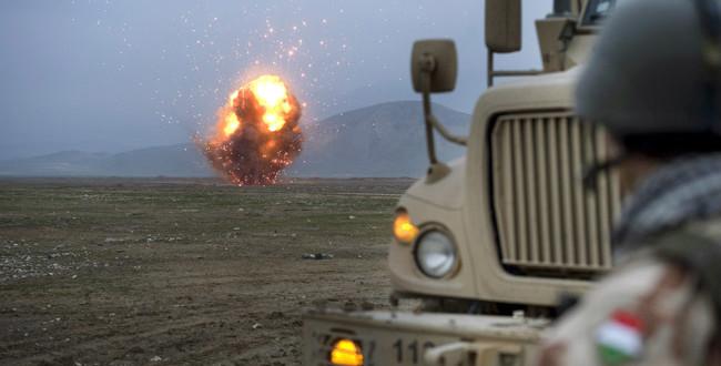 Lőszer megsemmisítés robbantással