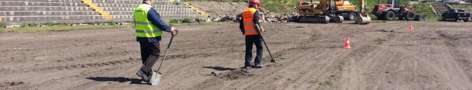 Lőszermentesítés stadionok bontási, építési munkálatainál
