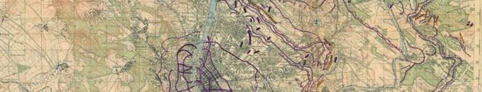 """Aknazár – Megvan az """"Attila"""" vonal korabeli térképvázlata Budapest – második világháború – Aknamentesítés"""