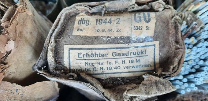 Lőszermentesítés – tűzszerész munka – német tüzérségi állás